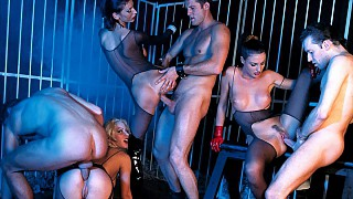 Laura Angel Monique Covet and Sorricca Getting Penetrated in an Orgy