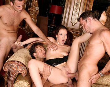 Private  porn video: Cinthya Lanvigne disfruta como una zorra en un gang bang