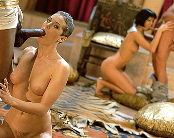Private  porn video: Bambie Bangs a Black Rod in This Egyptian Fantasy Flick