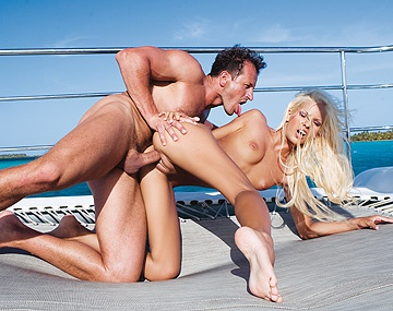 Private HD porn video: Blonde Boroka Has Hardcore Sex on the Deck of a Yacht