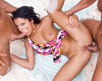 Private HD porn video: Lucy Belle, DP tropical
