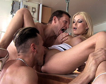 Private HD porn video: Melanie Memphis Lets Her Hooters Bounce While Enjoying a FMM 3 Way DP