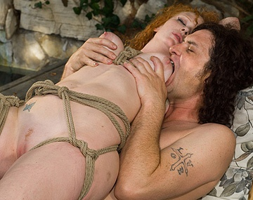 Private  porn video: Audrey Hollander Blindfolded and Hung in Tree in BDSM Rope Bondage