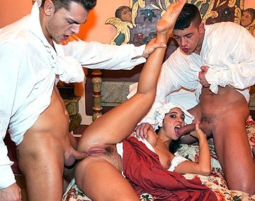 Private  porn video: Salma the Maid Sucks and Fucks a Couple of the Men at the House
