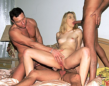 Private  porn video: Miss Bernadett Takes on Three Hard Cocks at the Same Time