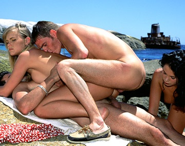 Private  porn video: Blondie and Demia Have a Hardcore Afternoon on the Sunny Beach