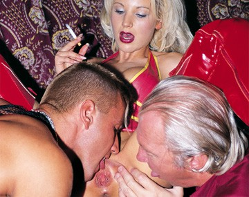 Private  porn video: Catherine Ellen and Friends Give Male Club Patrons Blowjob for Facial