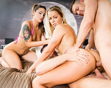 Private HD porn video: Christen Courtney y Medusa en una orgía con anal y DP